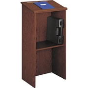 Safco® Adjustable Height Lectern, Cherry (8915CY)