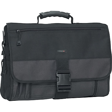 Solo Classic Expandable Messenger Bag, Black, (P2T-10/4)