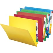 Smead® Colored Reinforced End-Tab File Folders, Letter, Assorted, 100/Box