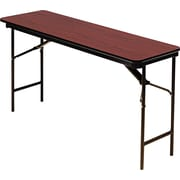 "Iceberg 6'x18"" Melamine Laminate Folding Banquet Table, Mahogany"