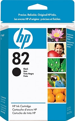 HP 82 Black Ink Cartridge (CH565A), 69ml
