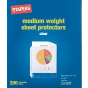 Staples Standard Sheet Protectors, 200/Pack