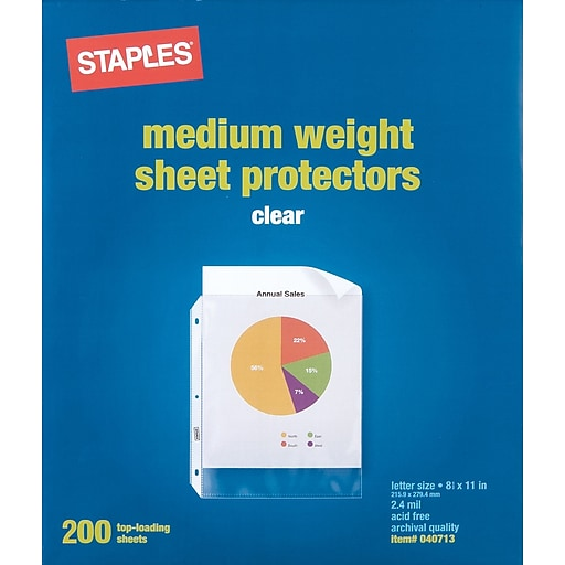 Staples Standard Sheet Protectors, 200/Pack | Staples