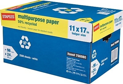 Staples 50% Recycled Multipurpose Paper,11