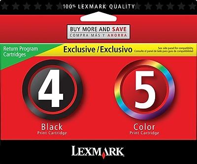Lexmark™ #4/#5 Inkjet Cartridges Multi-pack (2 cart per pack)