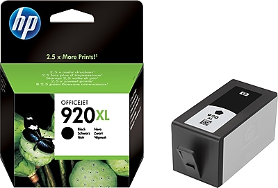 HP 920XL Black Ink Cartridge (CD975AN), High Yield
