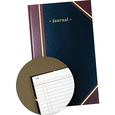 Staples® Black Journal Book, 11-3/4