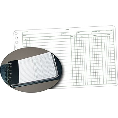 Staples Ledger Refill Sheets, 5in. x 8-1/2in.