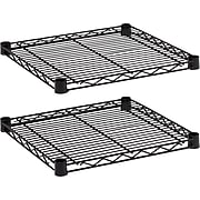 "Alera Industrial Wire Shelving, Extra Wire Shelves, Black, 18"" x 18"", 2/Pk"