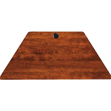 Alera Valencia Series Laminate Trapezoid Training Table Top, Medium Cherry