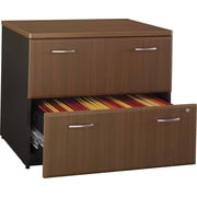 Bush Business Cubix 36W 2Dwr Lateral File, Cappuccino Cherry/Hazelnut Brown