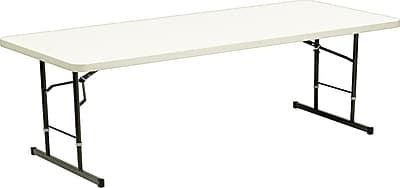Iceberg 6' Adjustable Height Resin Folding Table, Platinum