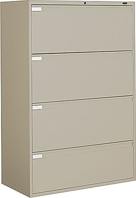 Global 9300P Series 4 Drawer Lateral File, Putty/Beige,Letter/Legal, 36''W (TD9336P4F1HDPT)