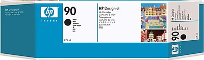 HP 90 Black Ink Cartridge (C5059A), 775ml, Extra High Yield