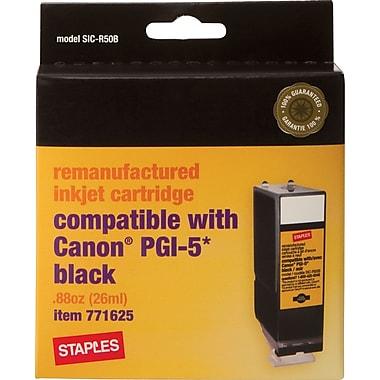 Staples® – Cartouche d'encre noire remise à neuf, Canon PGI-5 (SIC-R50B)