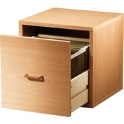 Foremost® Holdems Modular Cube Storage System, Honey Oak Cube with One Drawer