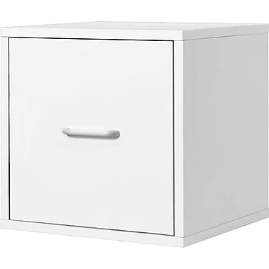 Foremost® Hold'ems Modular Cube Storage System, White Cube with One Drawer
