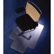 "Floortex Polycarbonate Chairmat for Carpet, Standard Lip, 47"" x 35"""