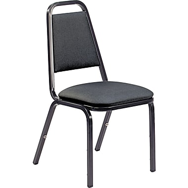 Virco® 8900 Series Upholstered Stack Chairs, Vinyl Breakroom & Hospitality, Black