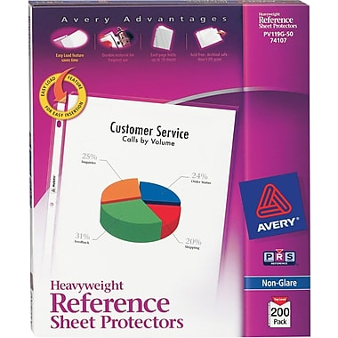 Avery® Heavyweight Non-Glare Sheet Protectors, 200/Pack