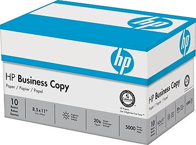 HP® Business Copy Paper, LETTER-Size, 92/104+ US/Euro Brightness, 20 Lb., 8 1/2