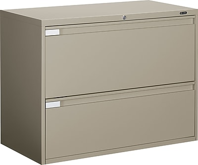 Global Business Plus 2 Drawer Lateral File, Putty/Beige,Letter/Legal, 36''W (TD9336P2F1HDPT)