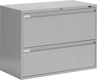 Global Business Plus 2 Drawer Lateral File, Gray,Letter/Legal, 42''W (TD9342P2F1HLGR)