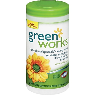 Green Works® Compostable Cleaning Wipes, Original, 62/Pack (1155)