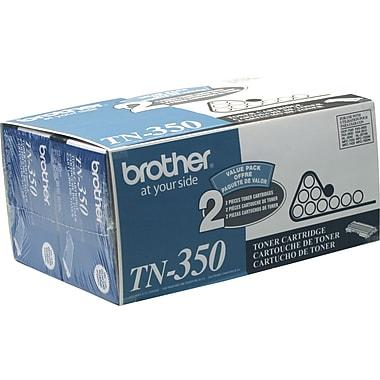 Brother TN-350 Black Toner Cartridge, 2/Pack