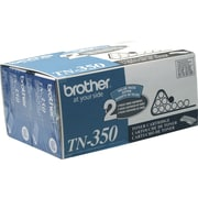 Brother TN-350 Black Toner Cartridge, 2/Pack