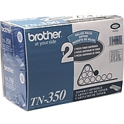 Brother TN-350 Black Standard Yield Toner Cartridge, 2/Pack (TN3502PK)