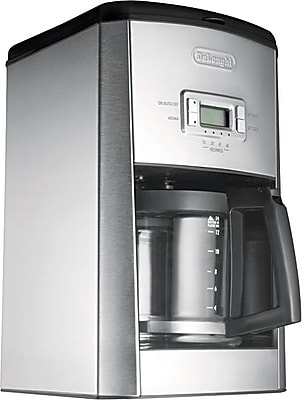 Delonghi Programmable 14 Cup Drip Coffee Brewer, Stainless Steel, Black / Silver 820984