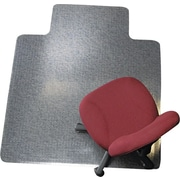 ES Robbins Anchormat™ 53''x45'' Vinyl Chair Mat for Carpet, Rectangular w/Lip (ESR122173)