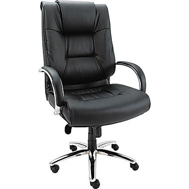 Alera Ravino High Back Big And Tall Swivel/Tilt Soft-Touch Leather Chair, Black