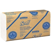 Scott® Scottfold™ Paper Towels, 1-Ply, White, 175 Towels/Pack, 25 Packs/Carton (01980)