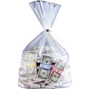 """MMF Industries™ Currency Deposit Bags, Clear, 20"""" x 12"""""""