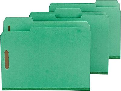 Smead Pressboard 3-Tab Colored File Folders, 2-Fasteners w/SafeSHIELD, 2