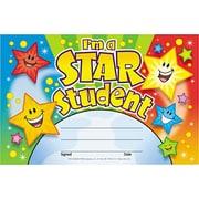 "Trend Enterprises© ""I'm a Star Student"" Recognition Awards, Assorted Colors, 5 1/2""H x 8 1/2""W, 30/Pk"