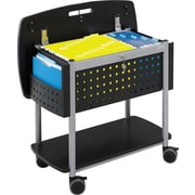 Safco Scoot Mobile File Cart with Work Surface, Black