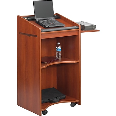 Safco® Executive Mobile Presentation Stand, Cherry