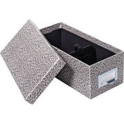 "Globe-Weis® Fiberboard Index Card Storage Box, 5x8"", Black"