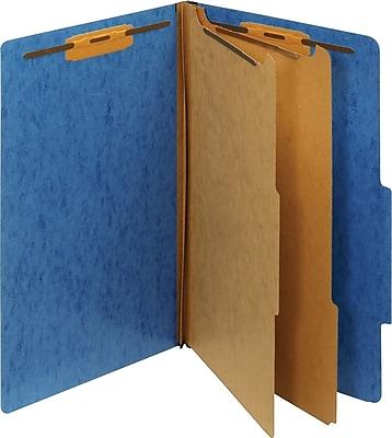 Staples® Moisture-Resistant Classification Folders, 2/5 Cut Top Tab, 2 Partitions, 10/Box (PU64M LBL-SB)