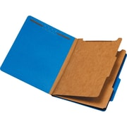 Staples® Brightly Colored Classification Folders, Letter Size, 2/5-Cut Tabs, Dark Blue, 2 Partitions, 5/Pack (98719S)