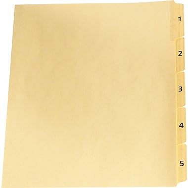 Oxford® Legal Trade Exhibit Dividers, 1-5, 5-Tab Set