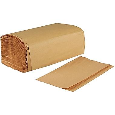 Boardwalk® Singlefold Paper Towels, Brown, 1-Ply, 9 x 9 9/20, 4,000/Ct
