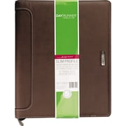 "Harrison Slim-Profile Organizer, One Week/Spread, 8 1/2"" x 11"", Brown"