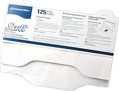 Scott® Sanitary Toilet Seat Covers, White, 18