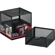 "Eldon Organization 2 Drawer Cube, Wire Mesh, Storage, Black, 6""H x 6""W x 6""D"