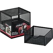 "Eldon Organization 2 Drawer Cube, Wire Mesh, Storage, Black, 6""H x 6""W x 6""D"