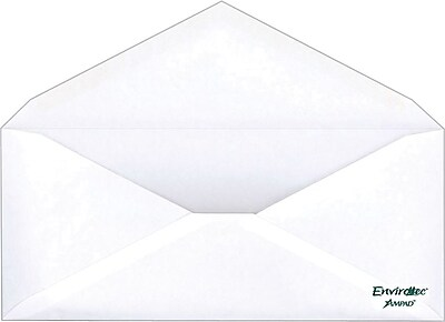 Ampad® #10 Envirotec 100% Recycled Gummed Envelopes, 500/Box